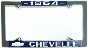 FRAMES, 64-72 CHEVELLE LICENSE (PAIR)