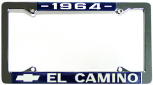 FRAME, 64-72 EL CAMINO LICENSE