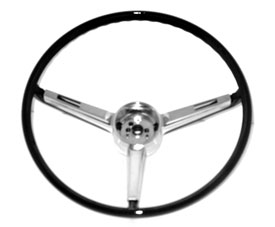 STEERING WHEEL, 67 CHEVELLE/EL CAMINO/67 NOVA BLACK