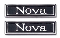 EMBLEMS, 69-72 NOVA DOOR PANEL - PAIR
