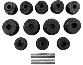 BUSHING, 68-79 NOVA  REAR LEAF SPRING SET - MULTI  LEAF - POLYURETHANE
