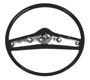 STEERING WHEEL, 69-70 NOVA BLACK