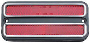 LENS, 68-72 TRUCK REAR RED MARKER WITH CHROME