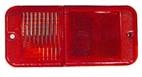 LENS, 68-72 TRUCK REAR RED MARKER WITH OUT CHROME
