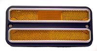 LENS, 68-72 TRUCK FRONT AMBER MARKER WITH CHROME