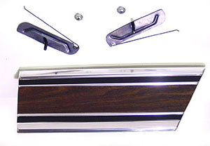 MOLDING, 69-72 TRUCK REAR OF FRONT FENDER WOODGRAIN-RH