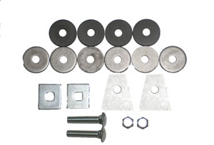BUSHINGS, 60-68 RADIATOR SUPPORT BUSHING KIT