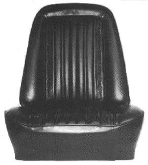 SEAT COVER, 71-72 CHEYENNE BUCKET - PAIR