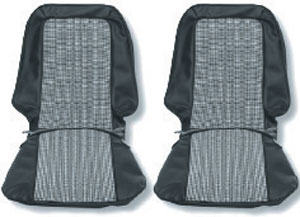 SEAT COVER, 71-72 CHEYENNE SUPER HOUNDSTOOTH BUCKET - PAIR