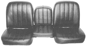 SEAT COVER, 67-68 TRUCK FRONT BUCKET WITH ARM REST