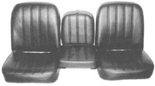 SEAT COVER, 67-68 TRUCK FRONT BUCKET WITH ARM REST SUPER