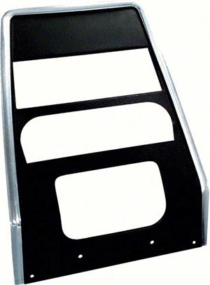 TRIM, 67-68 CAMARO DASH NO AC-BLACK