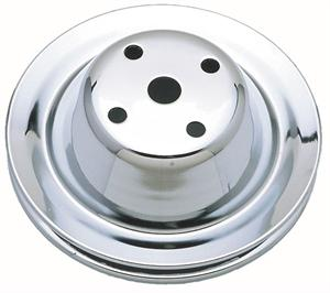 PULLEY, SMALL BLOCK LONG WATER PUMP FAN 1 GROOVE-CHROME