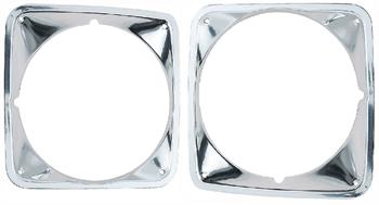 BEZEL, 69-72 TRUCK HEADLAMP REPRO - PAIR