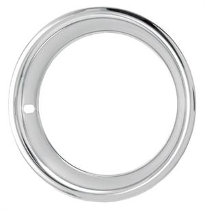 TRIM RINGS, 14X6 STAINLESS STEEL WITH ROUNDED EDGE SET OF 4 - REPRODUCTION