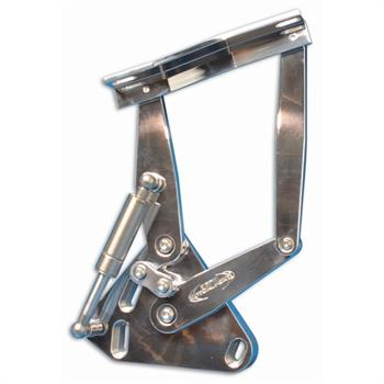 HOOD HINGES, 67-72 TRUCK BILLET POLISHED - PR