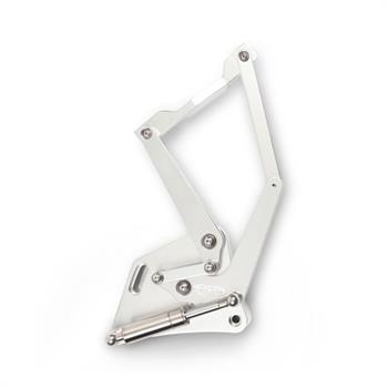 HOOD HINGES, 60-66 TRUCK BILLET CLEAR ANODIZED - PR