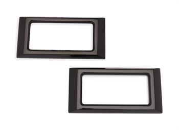 SIDE MARKER BEZELS, 1968 CAMARO BILLET GLOSS BLACK - PR