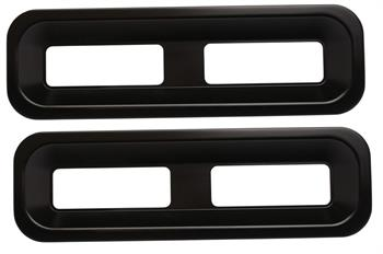 TAIL LIGHT BEZELS, 67-68 STANDARD CAMARO BILLET MATTE BLACK - PR