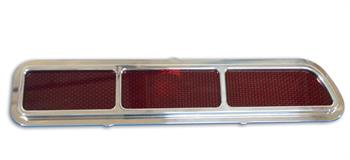 TAIL LIGHT BEZELS, 69 CAMARO STANDARD BILLET WITH TAIL LIGHT LENS CLEAR COAT  - PR