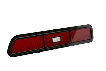 TAIL LIGHT BEZELS, 69 CAMARO STANDARD BILLET WITH TAIL AND BACK UP LIGHT LENS GLOSS BLACK - PR