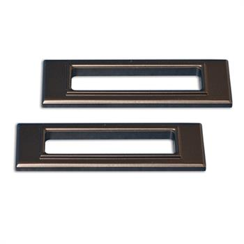 SIDE MARKER BEZELS, 1969 CAMARO REAR BILLET MATTE BLACK - PR