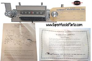 NEW OLD STOCK, 1967 CHEVY 2 NOVA ( WILL FIT 1966 CHEVY 2 NOVA ALSO) AM PUSH BUTTON RADIO WITH ANTENNA AND SPEAKER