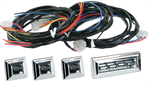 OE STYLE CHROME 4 DOOR SWITCH KIT FOR POWER WINDOW KIT