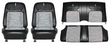 SEAT COVER, 68 CAMARO FRONT & REAR HOUNDSTOOTH