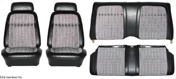 SEAT COVER, 69 CAMARO FRONT & REAR HOUNDSTOOTH