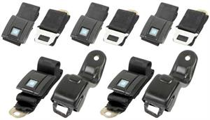 SEAT BELTS, 67-69 CAMARO STANDARD FRONT AND REAR SET BLACK