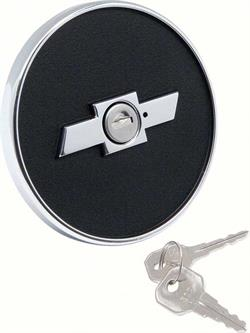 GAS CAP, 67-68 CAMARO-BOW TIE LOCKING - REPRO