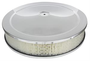 AIR CLEANER, 70-72 CHEVELLE/EL CAMINO CHROME TOP - AFTERMARKET