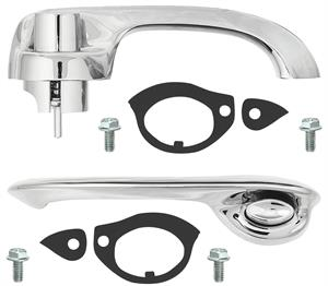 HANDLES, 68-69 CHEVELLE DOOR KIT QUALITY 4 DOOR REAR