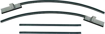 WEATHERSTRIP,  68-72 NOVA UPPER QUARTER WINDOW CHANNEL -PR