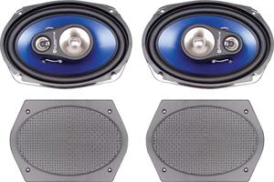 SPEAKERS, REAR PARCEL SHELF 200 WATT 3 WAY - PAIR