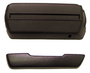 ARM REST PAD & BASE, 68-72 NOVA LH - BLACK
