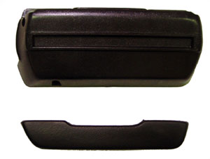 ARM REST PAD & BASE, 68-72 NOVA RH - BLACK