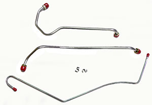 FUEL LINE, 69 CHEVELLE/EL CAMINO 396 QUADRAJET 3 PC STAINLESS