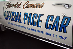 DECAL, 67 CAMARO PACE CAR - PAIR