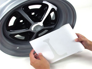 STENCIL, 14X7 SS WHEEL STRIPE KIT