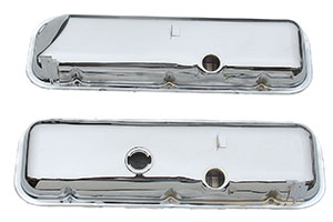 VALVE COVER, 67-72 CHROME WITH POWER BRAKE BIG BLOCK WITHOUT DRIPPERS PR