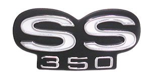 EMBLEM, 67-68 CAMARO SS350 GRILL-REPRODUCTION