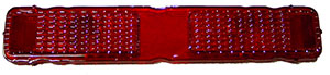LENS, 68 CAMARO RS TAIL - ONE PIECE (ALL RED)