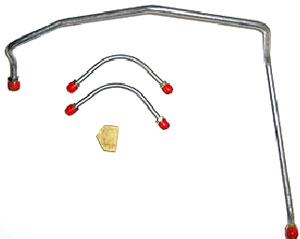FUEL LINE, 69 CHEVELLE/EL CAMINO 396/375HP (3PC) OEM