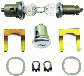 LOCK, 66-67 CHEVELLE AND EL CAMINO IGNITION AND DOOR - ORIGINAL STYLE KEY