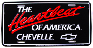 PLATE, HEARTBEAT CHEVELLE LICENSE