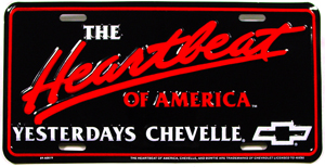 PLATE, YESTERDAYS CHEVELLE LICENSE