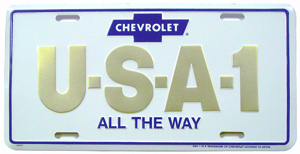 PLATE, USA-1 (GOLD) LICENSE